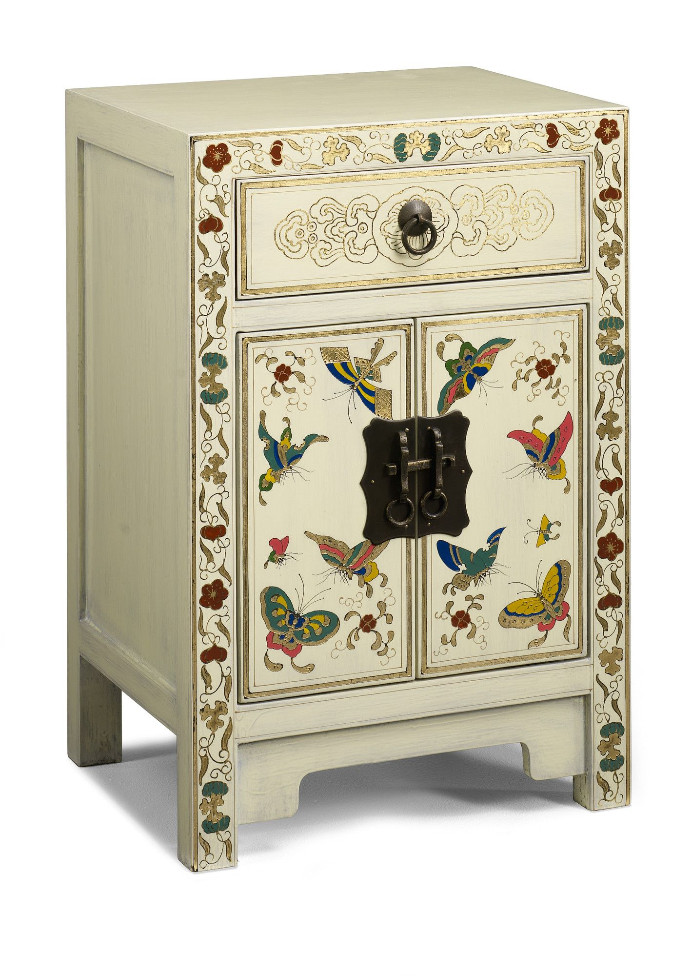 1 Drawer Bedside Table Bedside Cabinet Painted Furniture Chinese Furniture