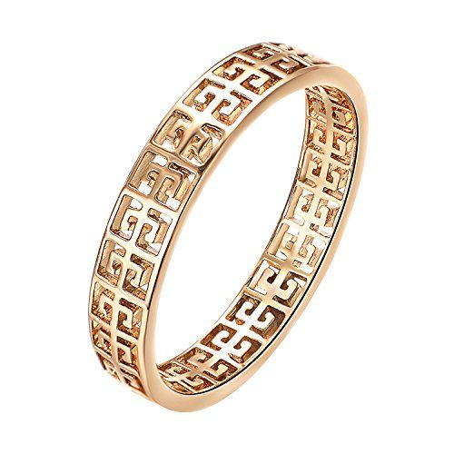 3981a183a $0.01 - Yoursfs Classical Pattern Ring 18K Rose Gold Gold Plated Band Ring  for Women Fashion Jewelry