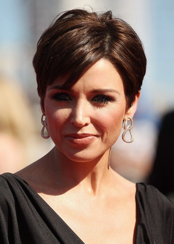 Short brown hair- very nice colour!