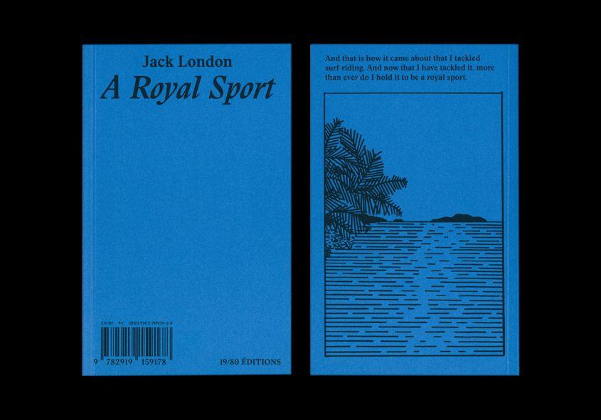 Book Cover Graphism : A royal sport jack london jérémy gl tre graphism rudy