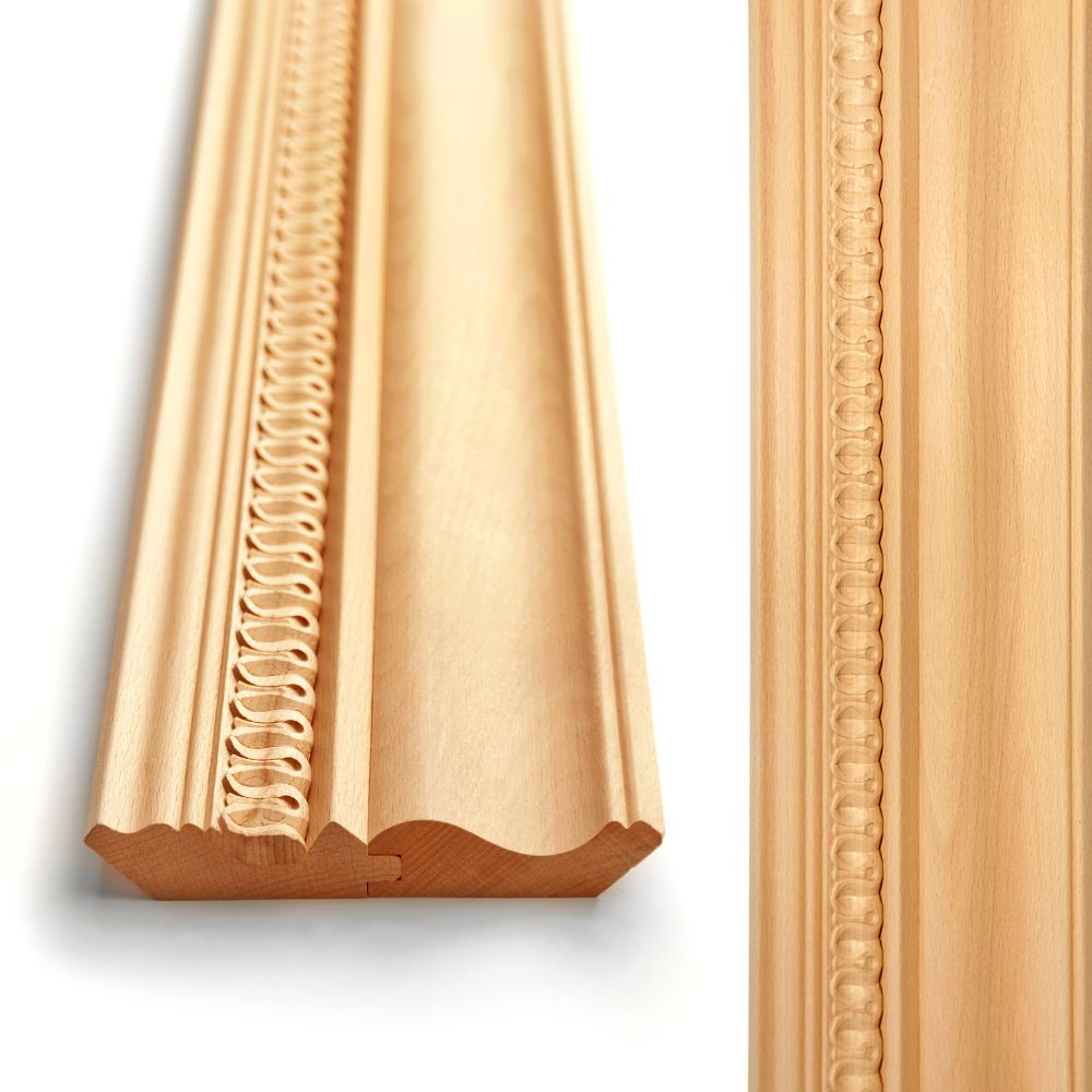 Decorative wood cornice for cabinet top or walls corners