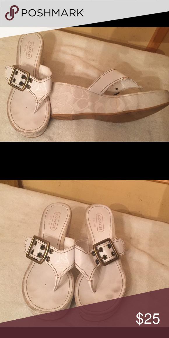 Coach sandals White coach sandals Coach Shoes Sandals