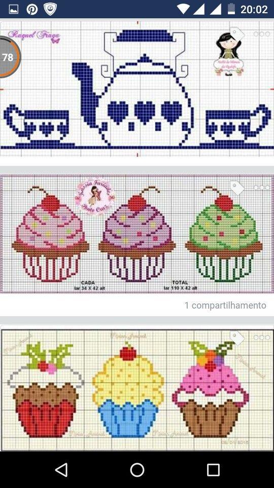 Cupcake. | Cruceta | Pinterest | Punto de cruz, Punto de cruz cocina ...