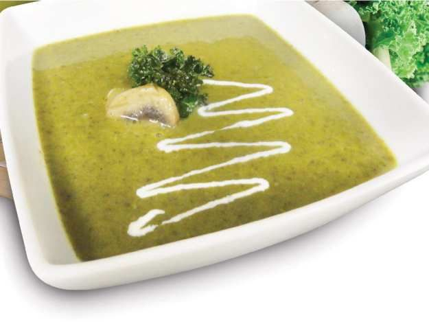 This mushroom kale soup is one of Farm Boy's most popular