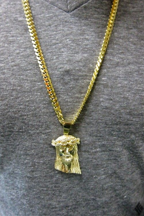 iced cuban item lab simulated plated pendant out piece chain hiphop men necklace gold jesus color micro diamond mini