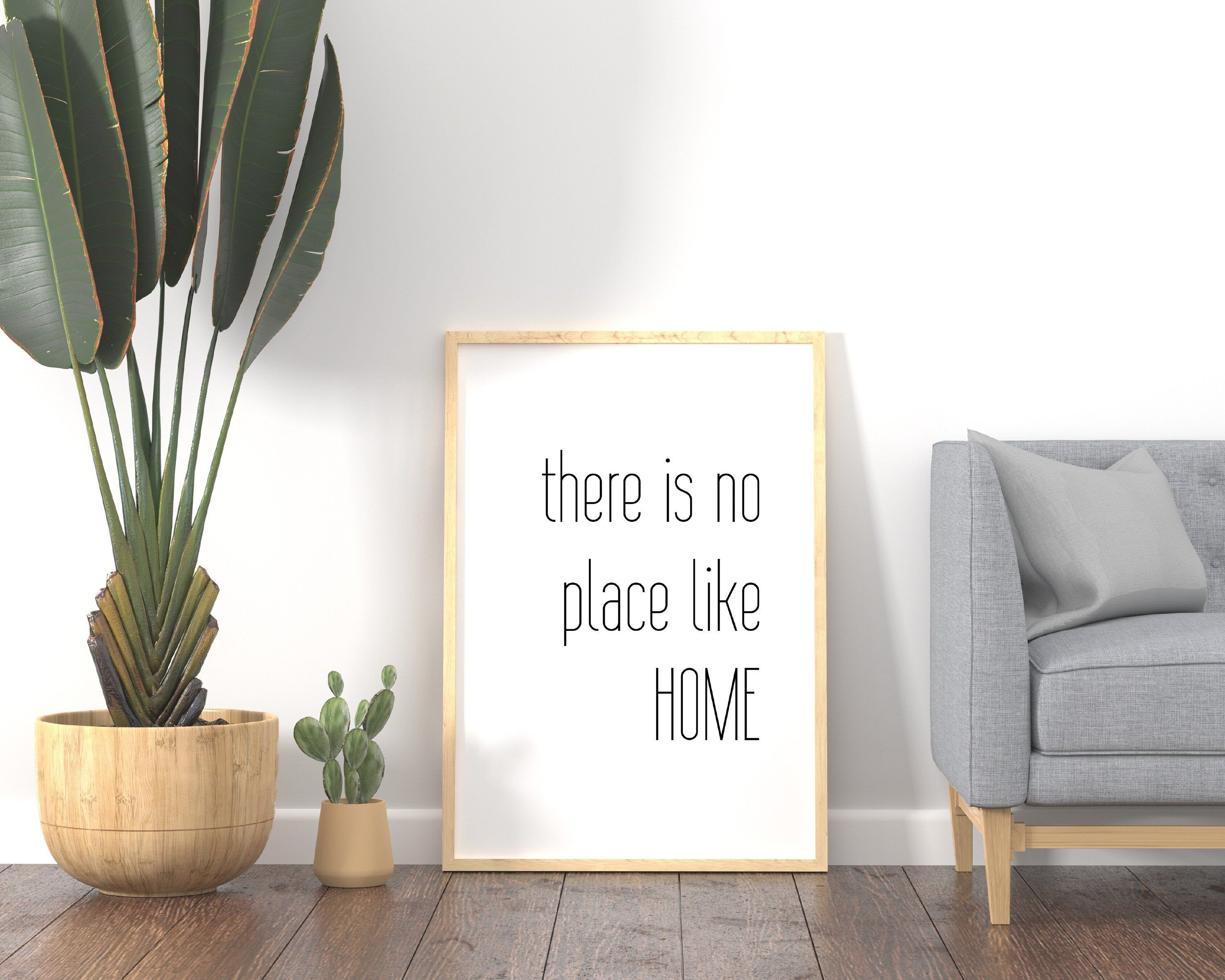 There is no place like home sign Printable Wall Art Quote   Etsy