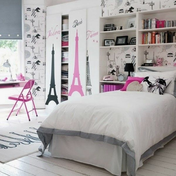 La d co chambre ado fille esth tique et amusante - Deco chambre fille paris ...