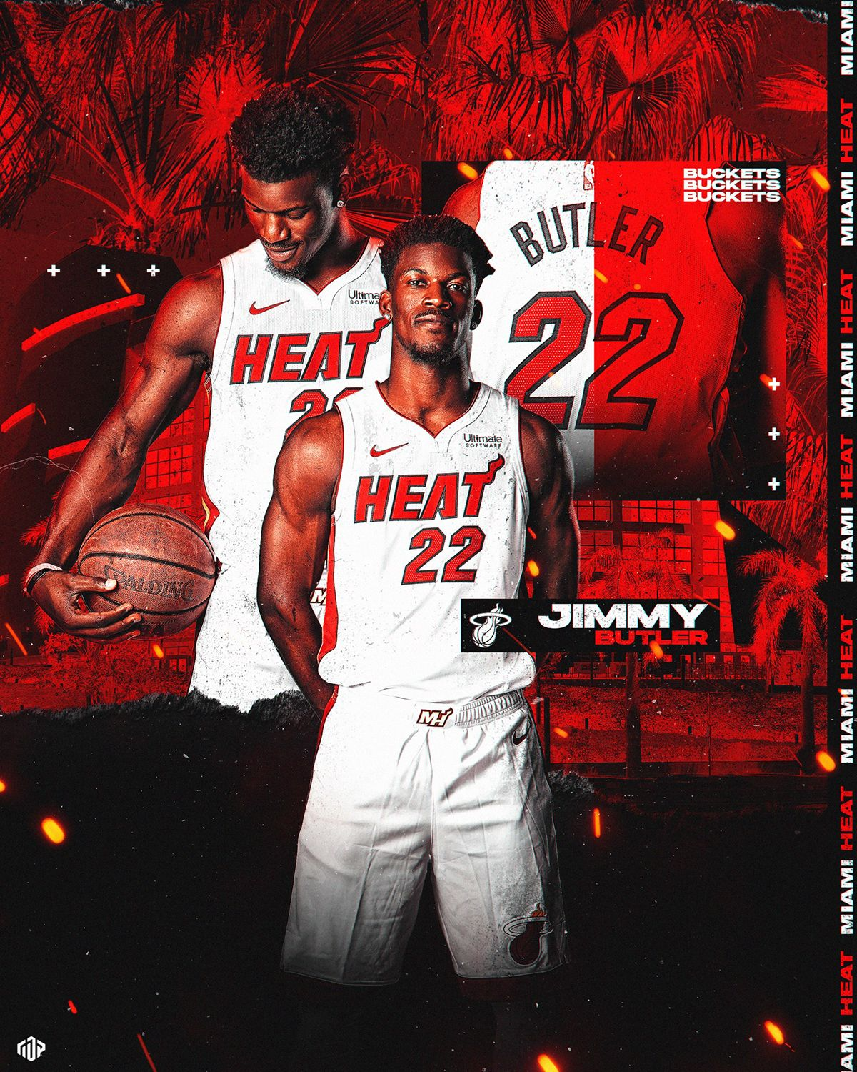 Jimmy Butler Media Day Graphic On Behance Miami Heat Basketball Nba Pictures Nba Basketball Art