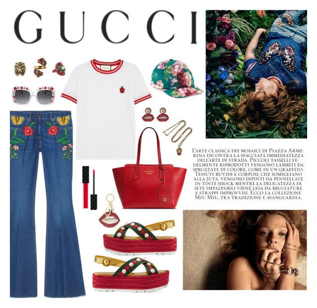 """Presenting the Gucci Garden Exclusive Collection: Contest Entry"" by tablegrapes ❤ liked on Polyvore featuring Gucci and gucci"