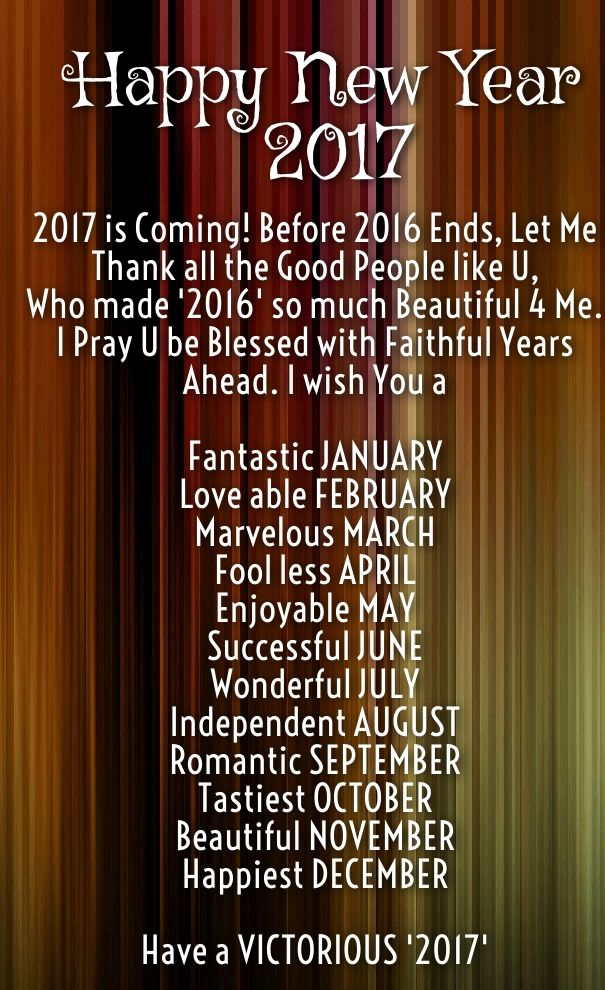 Attractive Happy New Year 2017 Quotes Greeting Wishes Images