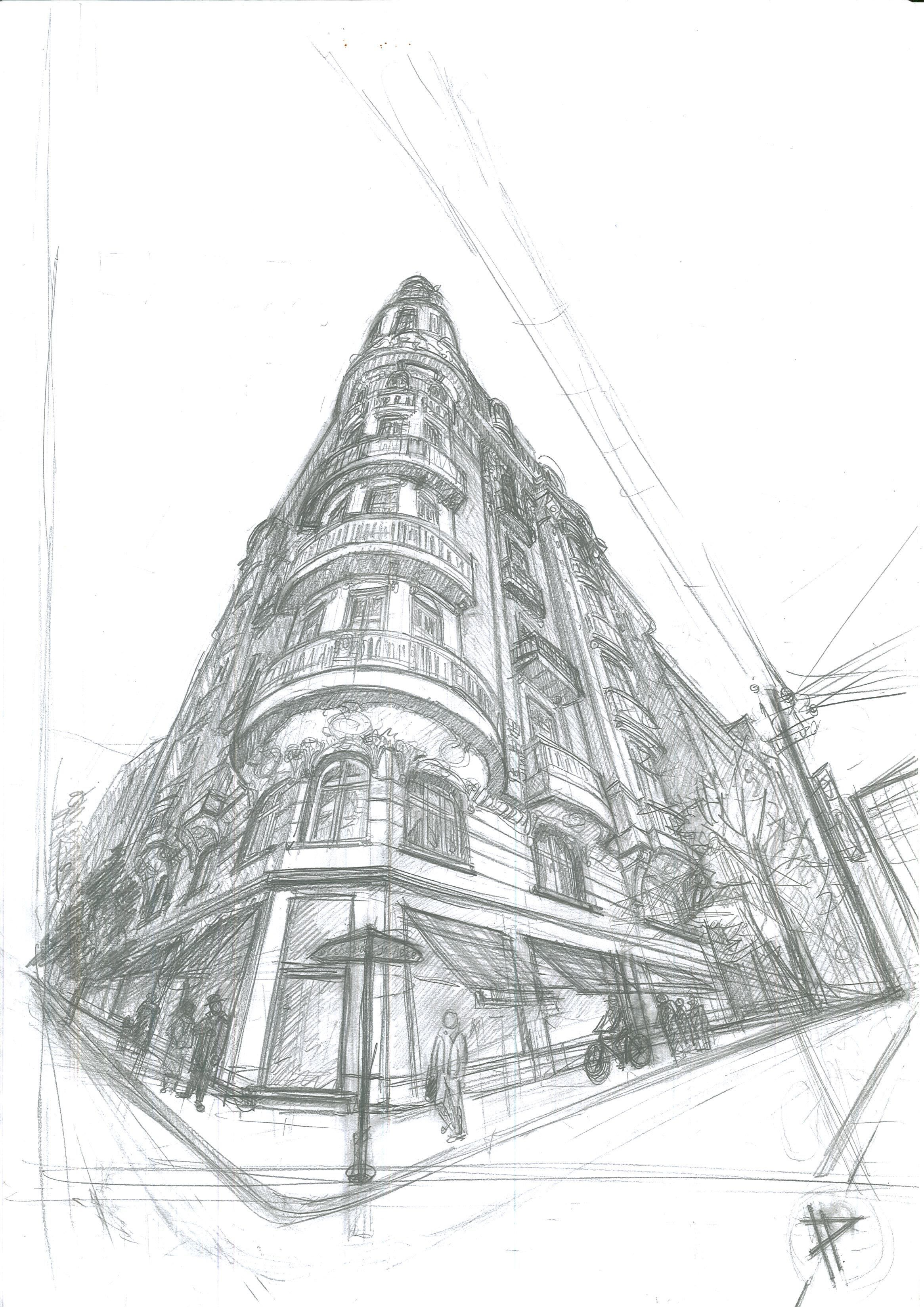 Sketch In 3 Point Perspective By Ivan Petkov