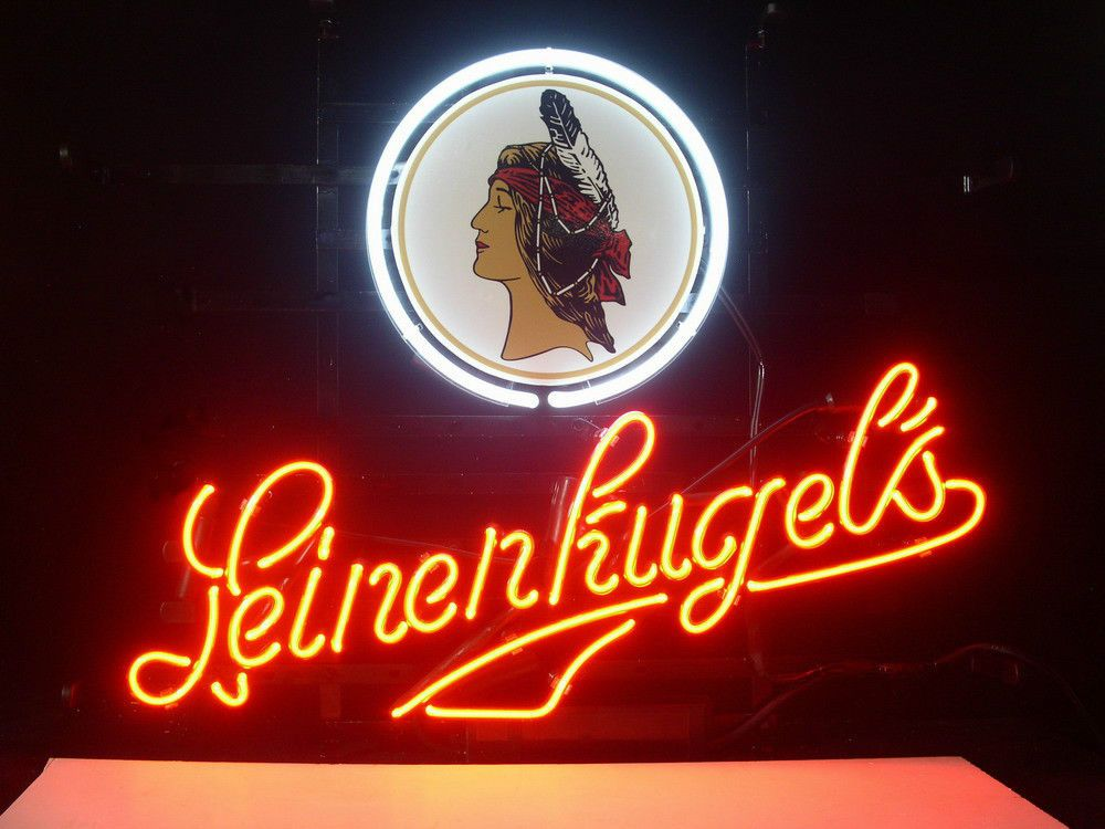 New Wisconsin Leinenkugels Beer Lager Real Glass Neon Light Bar Pub Sign Neon Signs Neon Light Signs Custom Neon Signs
