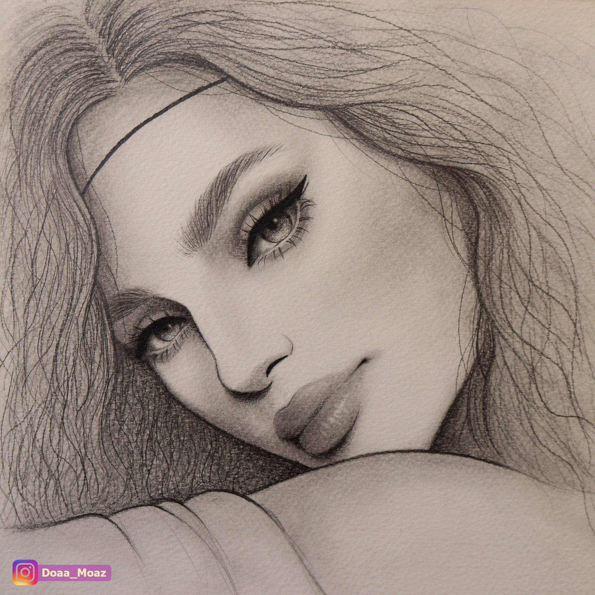 Portrait sketch with pencil female drawing ♥ click to see more on instagram drawings sketching portrait art