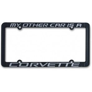 My Other Car Is A Corvette License Plate Frame License Plate Frames License Plate Plate Frames