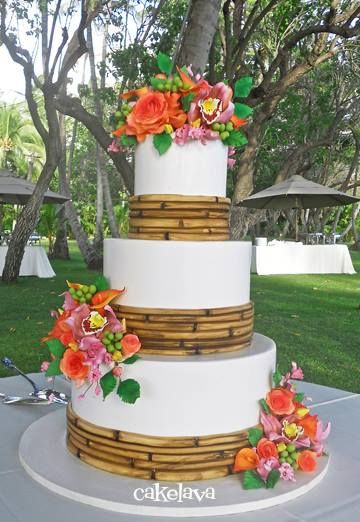 tropical themed wedding cakes classic and luau wedding cake a lid for every 21273