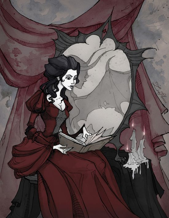 The Mirror of your Soul Art Print | Gothic Art