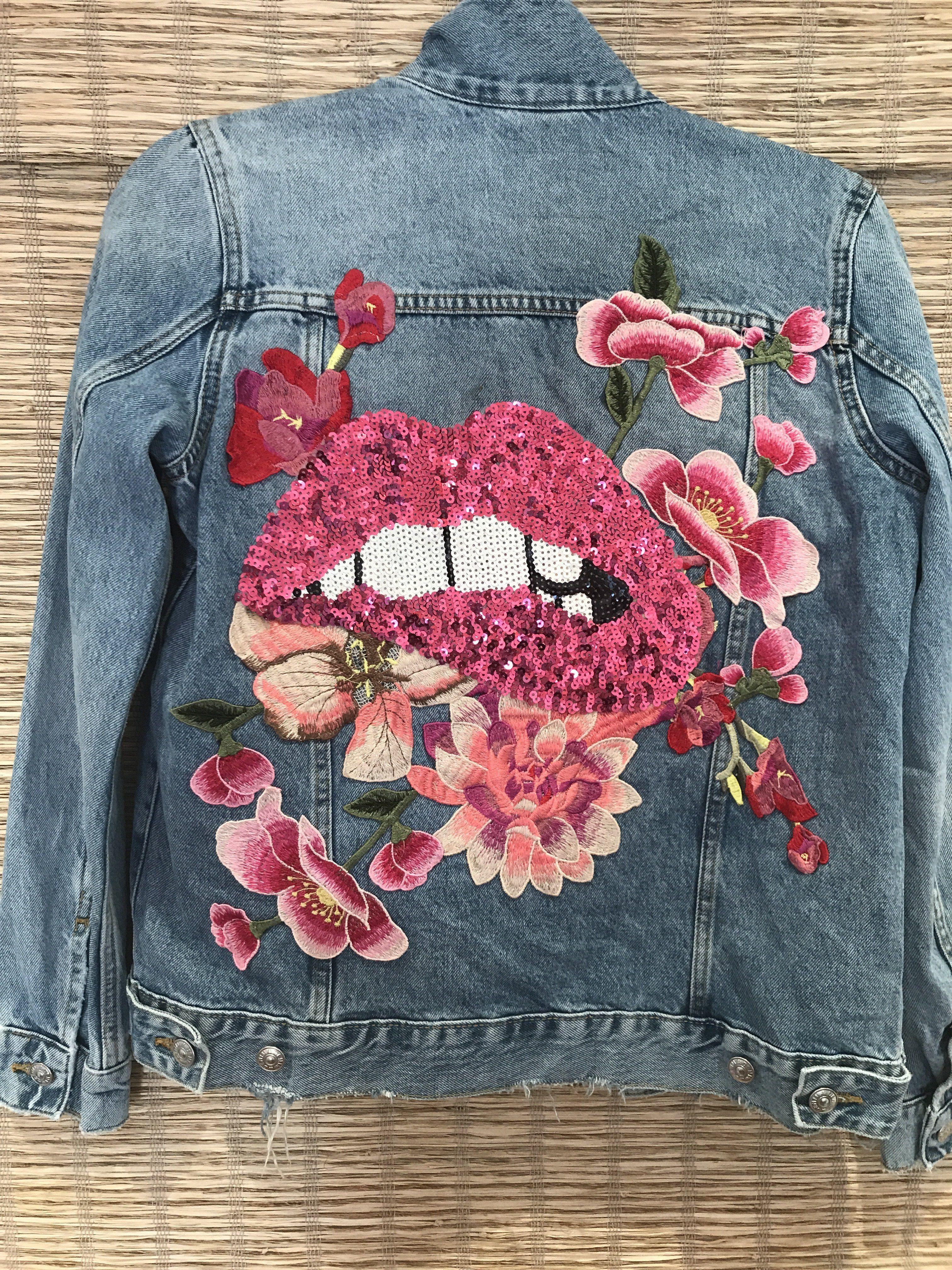 The Bite Your Lip Denim Jacket Get Artsy Pinterest Denim