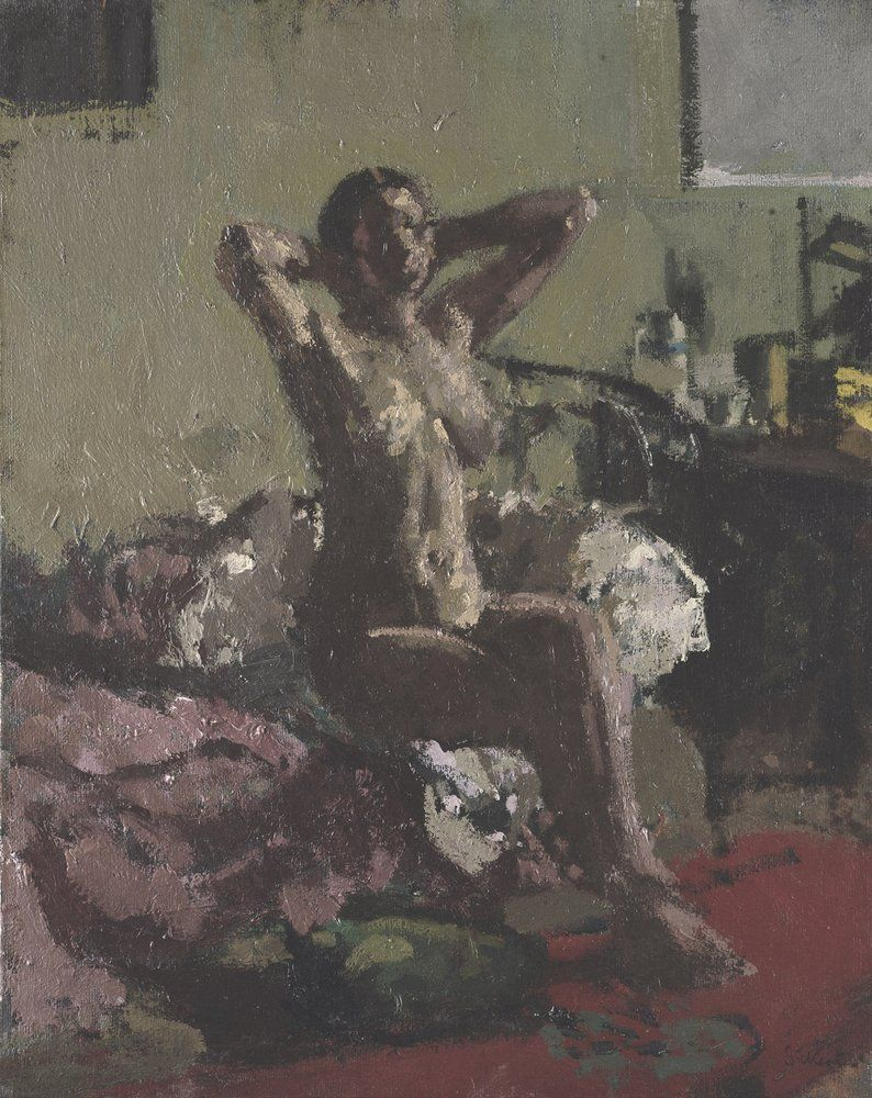 Walter Richard Sickert - Nude reclining, la coiffure