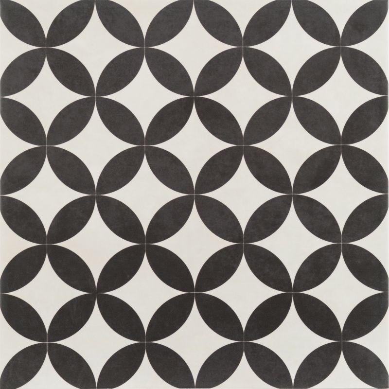 Bertie Black Amp White Feature Floor Tiles 33x33cm In Home