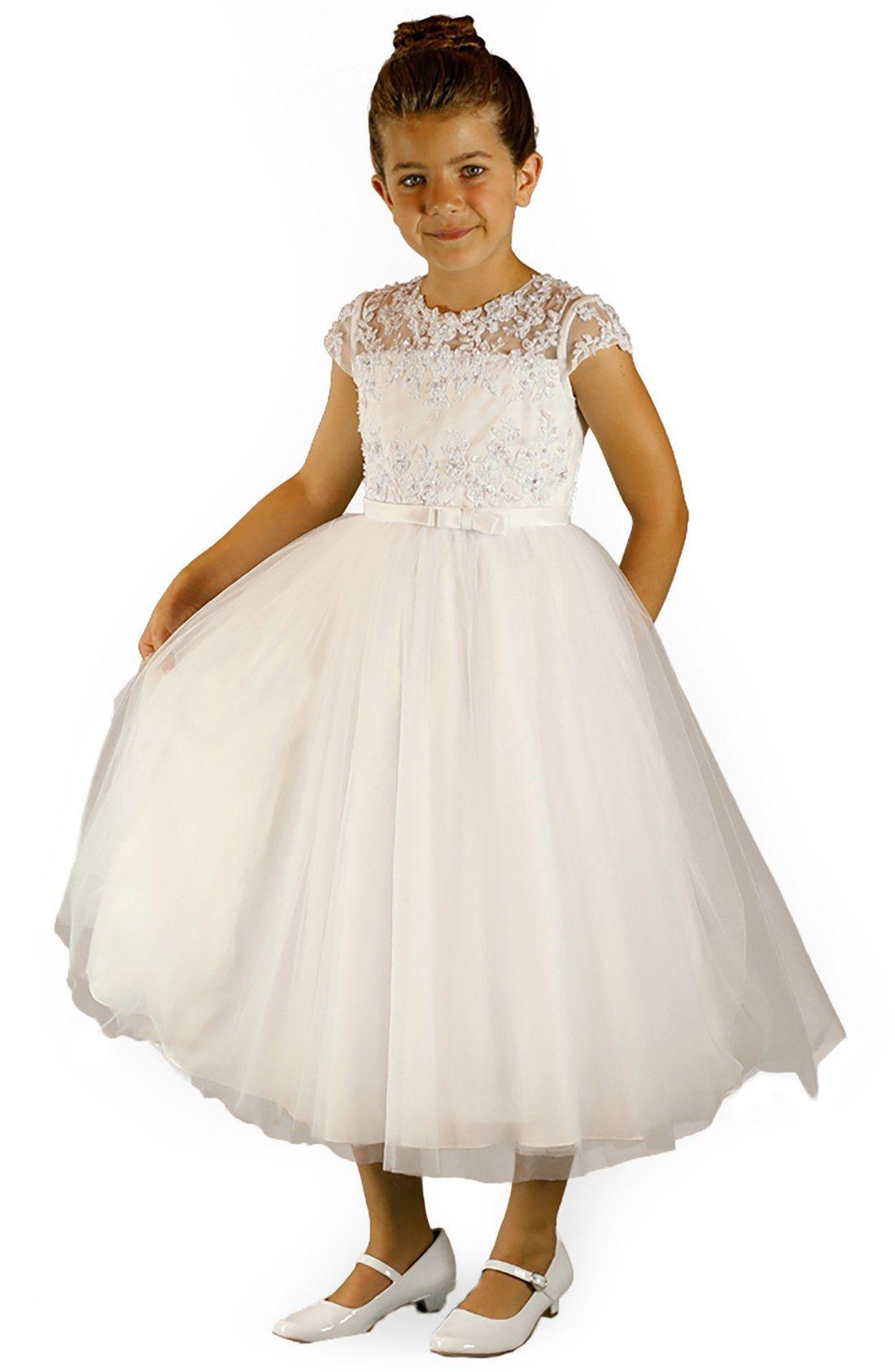 584f47112ad0 Lauren Marie Beaded Cap Sleeve Dress (Little Girls   Big Girls ...