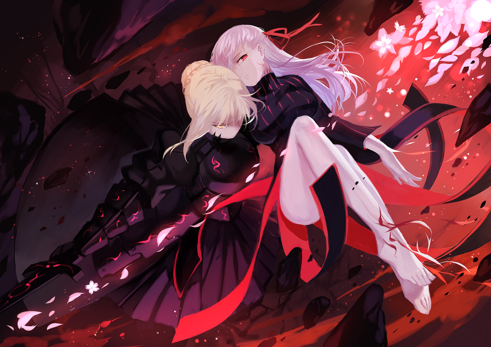Fate Stay Night Saber Alter And Dark Sakura 運命ステイナイト