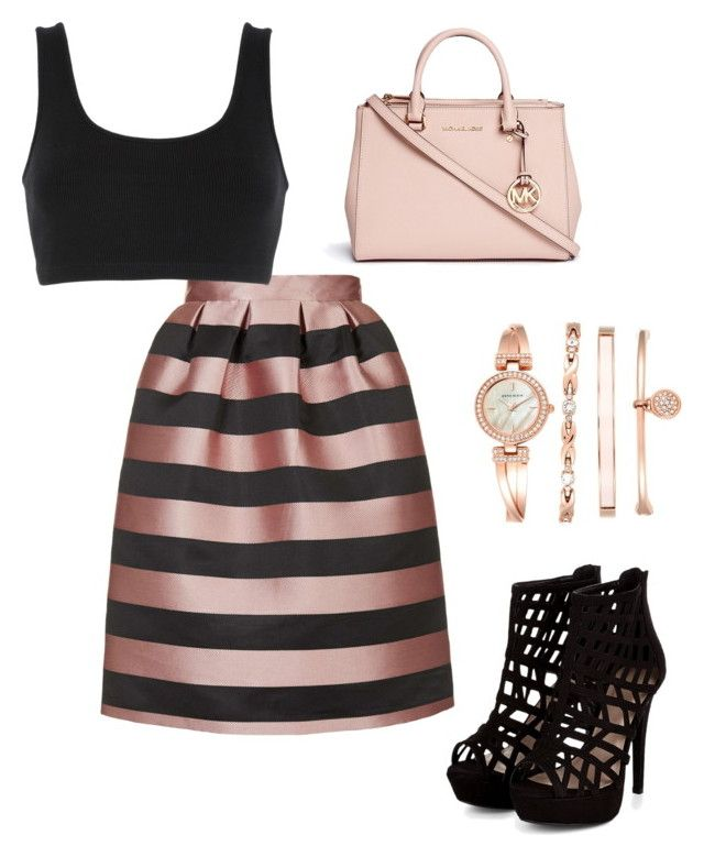 """""""Untitled #45"""" by lucia-graff on Polyvore featuring Topshop, adidas Originals, Michael Kors and Anne Klein"""