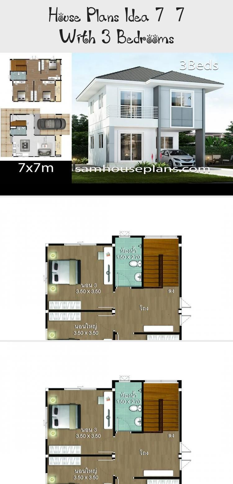 House Design Plan 9 5x10m With 5 Bedrooms Home Ideas 95x10m Bedrooms Design In 2020 House Construction Plan House Plan Gallery Model House Plan