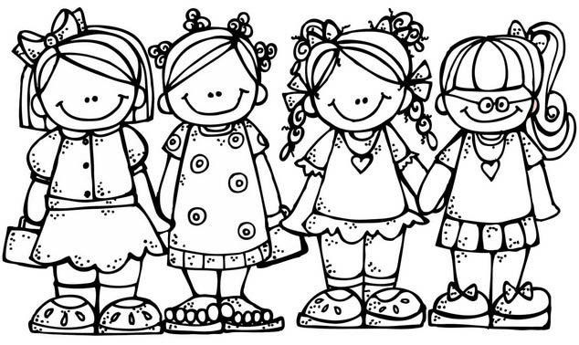 Bff Coloring Page Of Friends For Girls Coloring Pages Sunday School Coloring Pages Coloring Pages For Kids