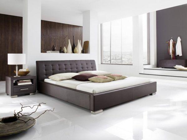 Moderne Schlafzimmer Farben Braun Vermittelt Luxus Minimalistisch - moderne schlafzimmer farben