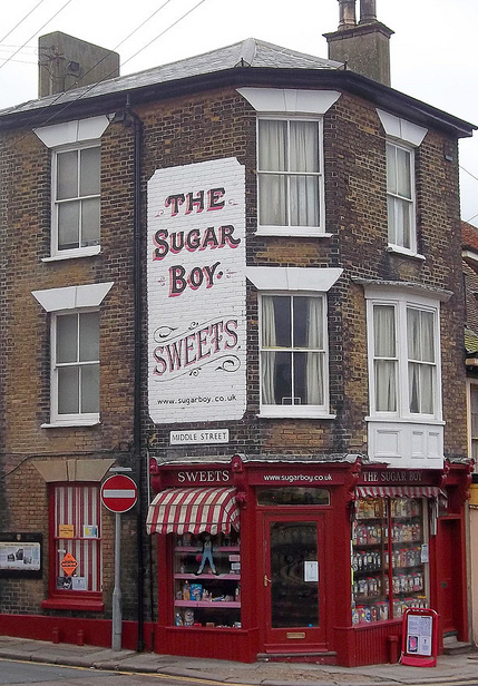 The Sugar Boy :  Full to the brim with all the traditional, retro, favourite sweets around that you used to buy a quarter of.