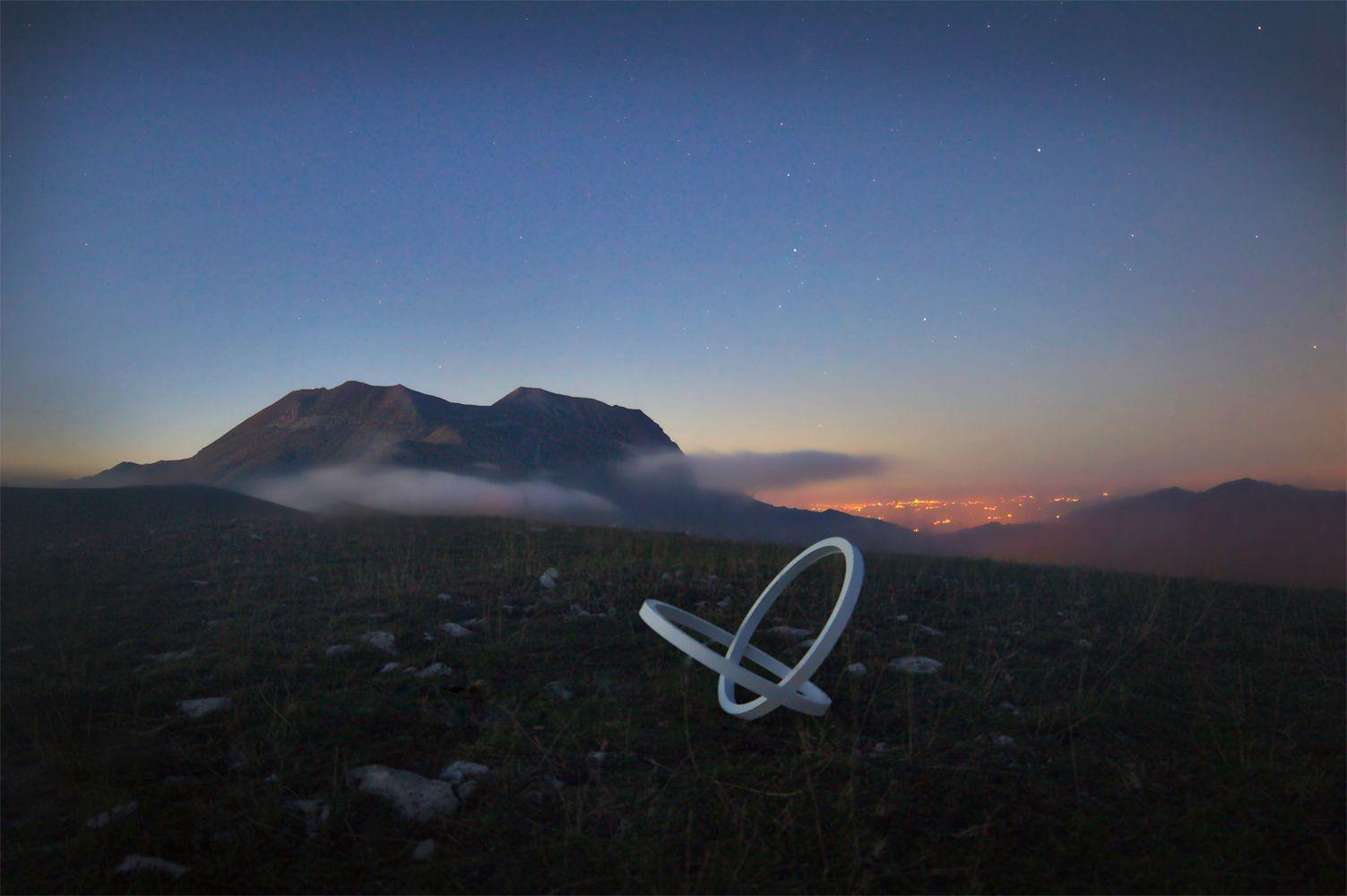 INFINITY #sunset #sibillini #lamp #design #stars #marche #italy #art #sculpture #minimal #white