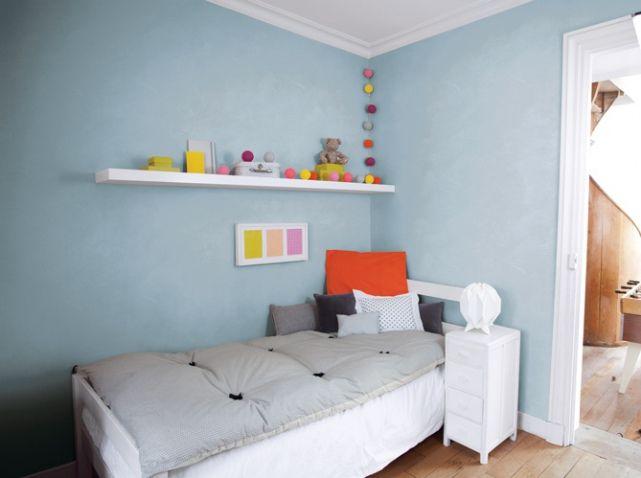 Peinture 15 id es sympa pour la chambre de vos enfants ici un enduit d coratif technitoit for Peinture fille chambre
