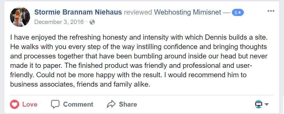 Customer Reviews - Mimi\u0027s Net Web Hosting  Design Web hosting