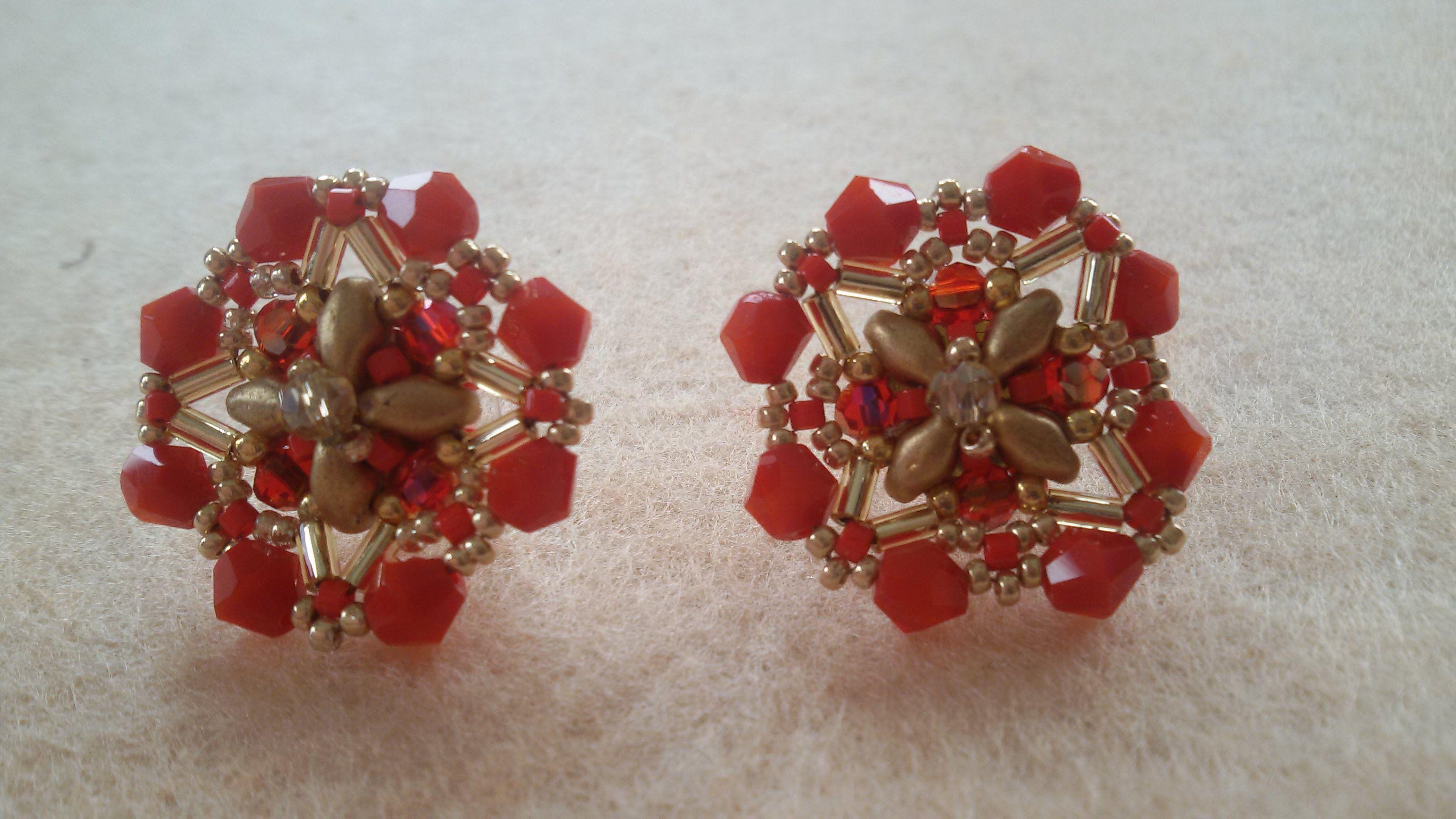 Tutorial Orecchini A Perno Bijoux Con Perline Beaded Jewelry