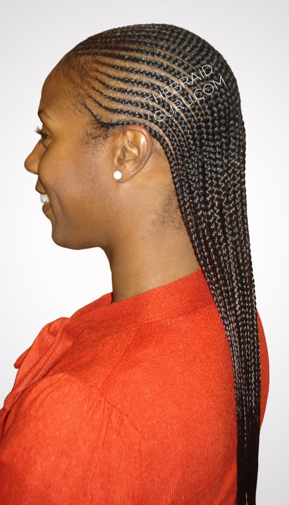 2 layer feed-in cornrows - side