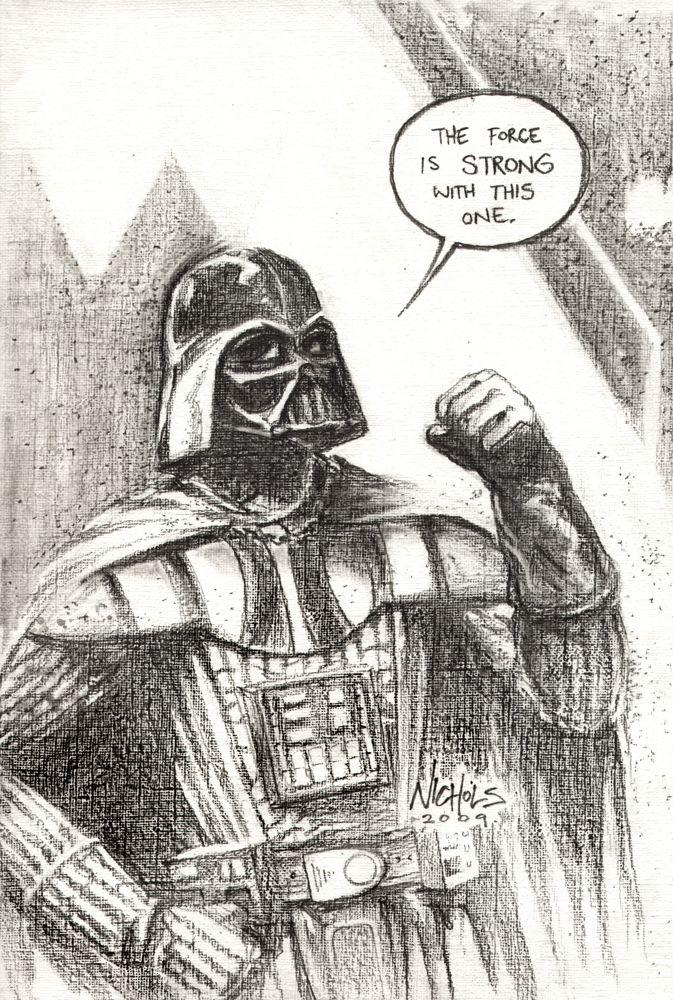 Darth Vader Sketch by Wayne Nichols  An Official Star Wars