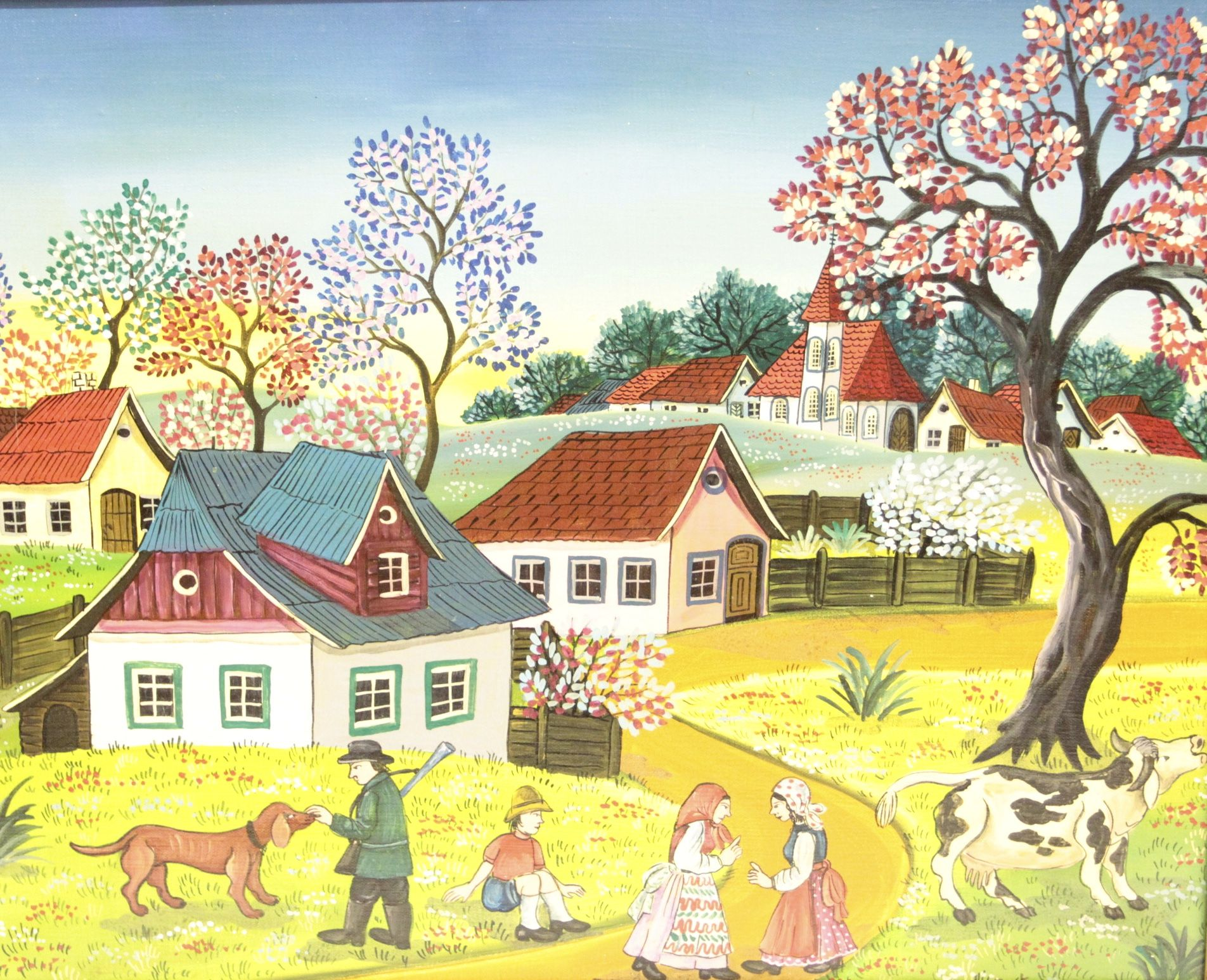 Frühling Naive Malerei Susi Majdic | Naive art, Naive and Paintings