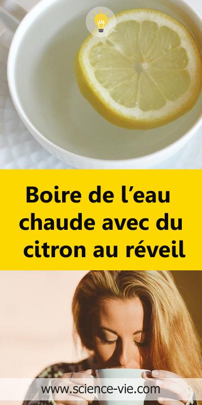 Boire de l'eau chaude avec du citron au réveil en 2020
