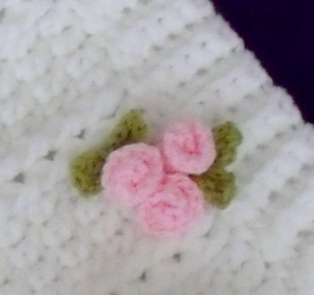 Rosebud Embellishment Crochet Flowersleavesberriesfreeform