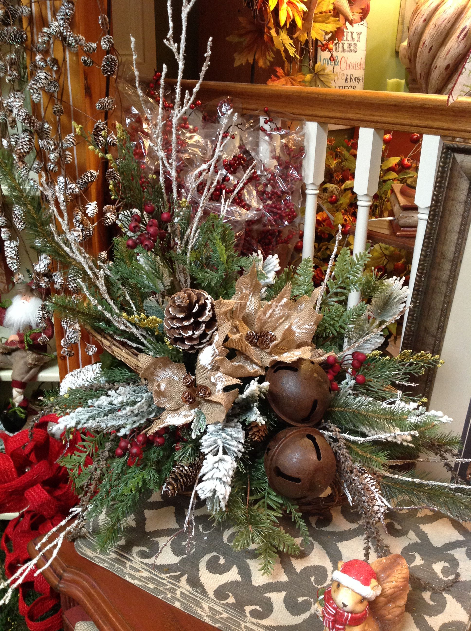 Rustic Christmas Floral Christmas Flower Decorations Storing Christmas Decorations Christmas Table Decorations Diy