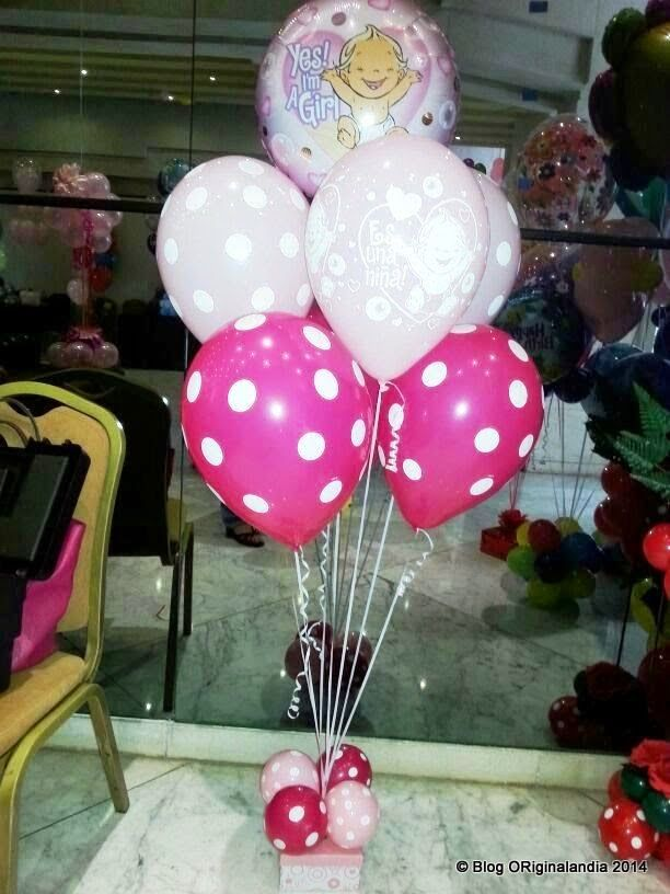 Originalandia cba bouquets de bebes decoraci n con for Decoracion con globos precios