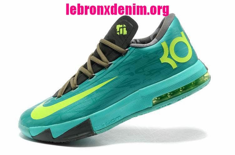 6f1b212ed065 Cheap KD 6 Kevin Durant Shoes 2014 Tropical Twist Volt Tarp Green 599424  200  Lebron X Denim 227