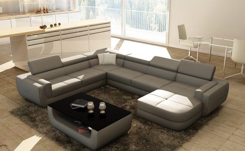 Wohnlandschaft Designer Sofa Couch Big Polster Leder Sofas Eck Ecke Sitz Bergag Sofa Design Sofa Couch Ecksofa