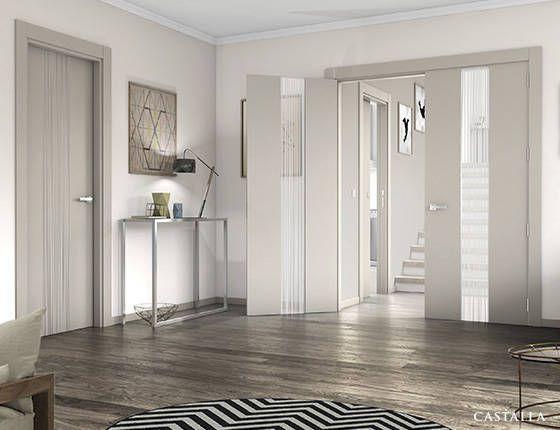 Puerta de interior argila modelo quevedo de la serie - Puertas lacadas blancas ...