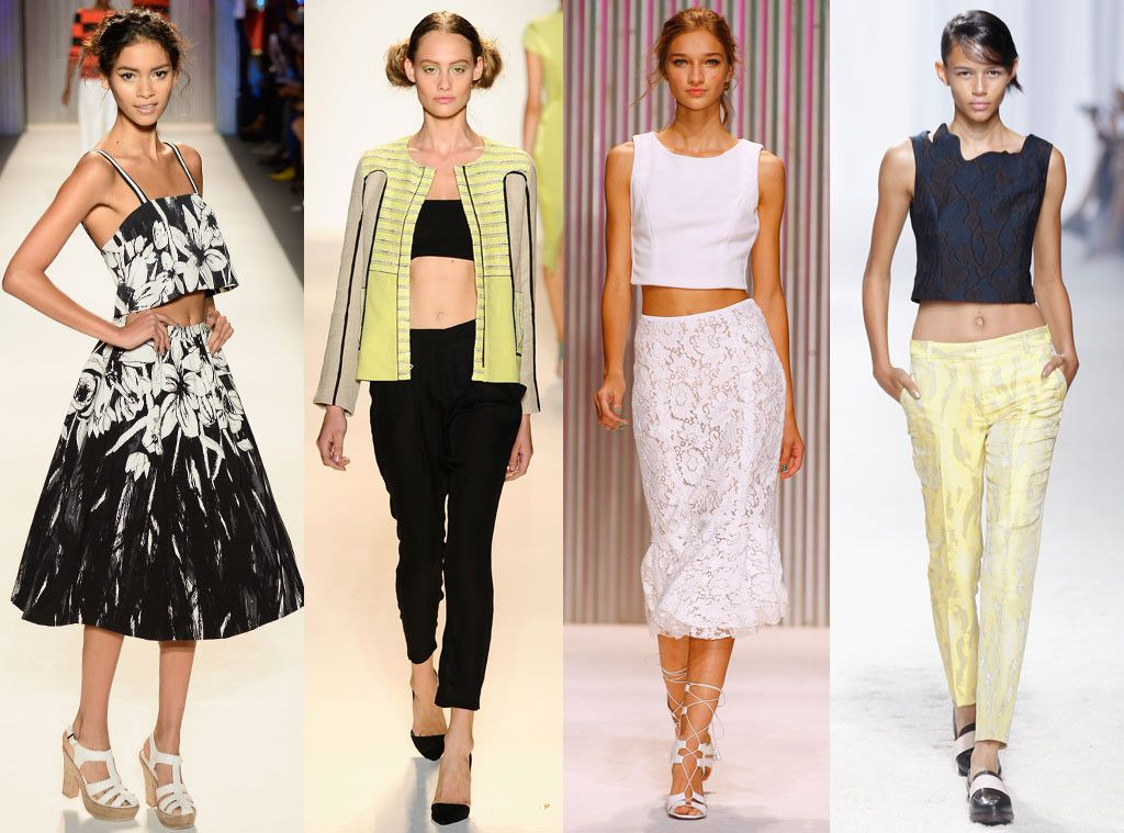 Crop Tops From Spring 2017 Trends New York Fashion Week