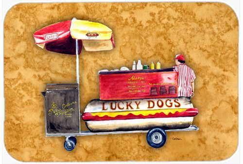 Hot Dog Kitchen or Bath Mat 24x36