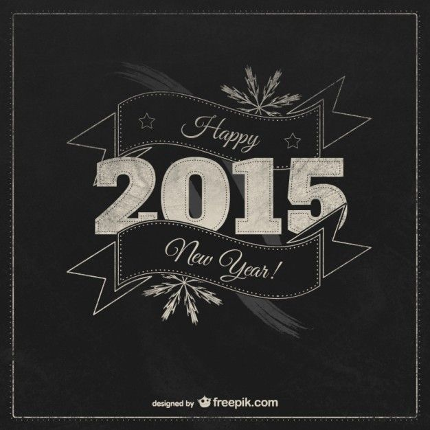 vintage happy new year card vector free download
