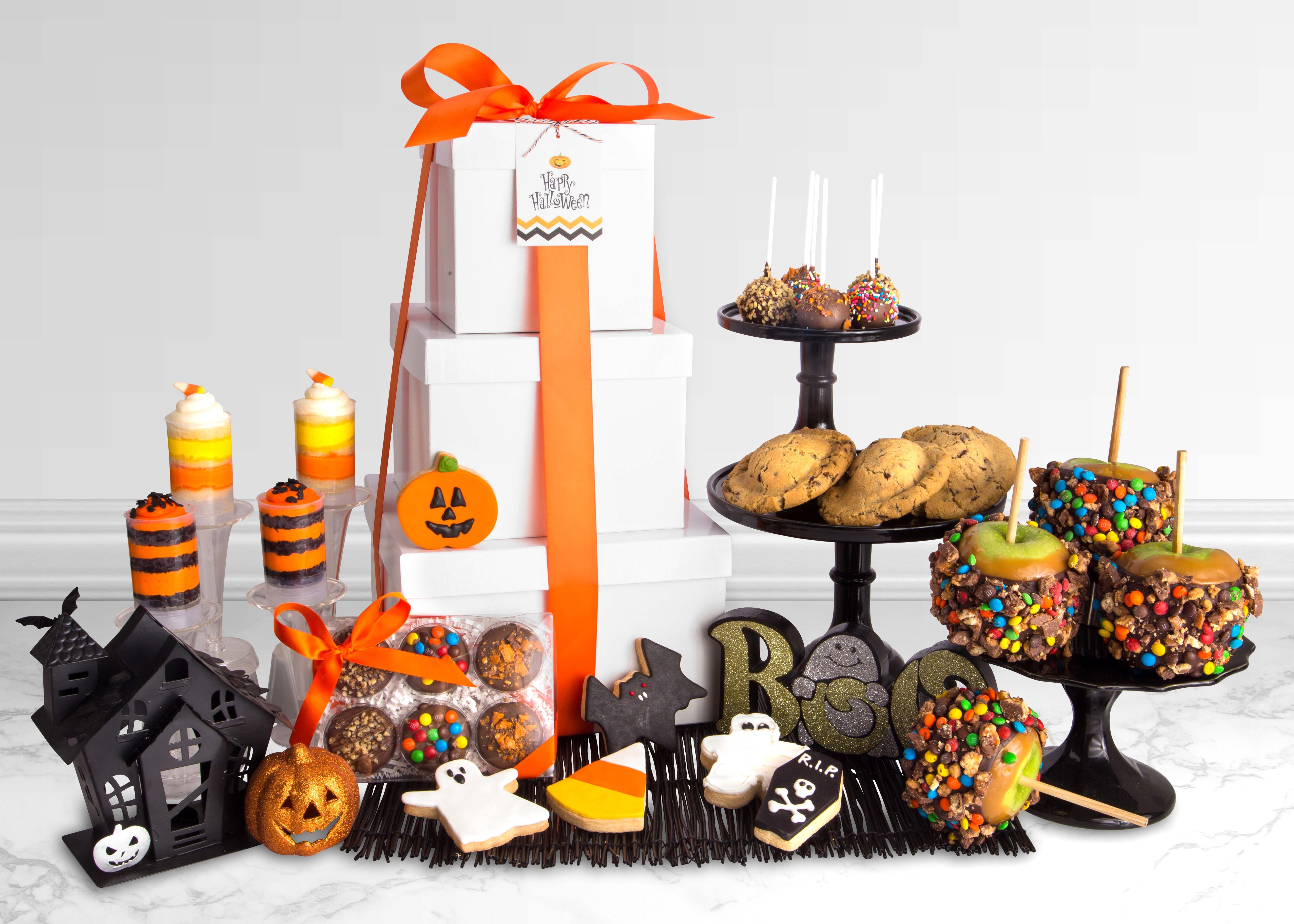 Ultimate Halloween Gift Tower (Candy Cake Pops, Stuffed