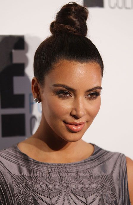 Kim Kardashian Tried Out This Hairstyle Yesterday You Into It Casual Updos For Long Hair Bun Hairstyles For Long Hair Medium Hair Styles