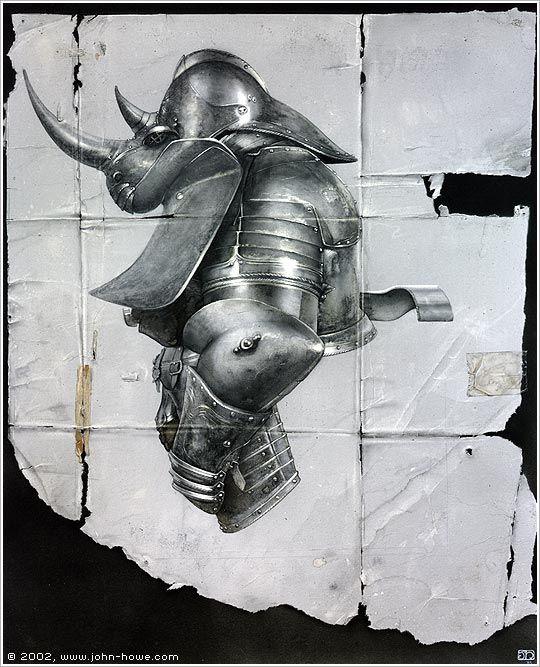 Rhinoceros Armour II (John Howe)